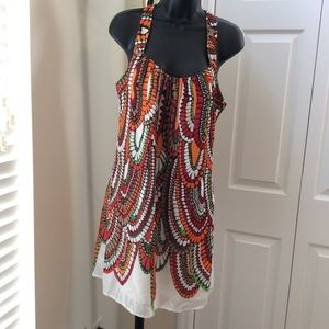 Aryeh NWOT Multicolored Print Summer Dress